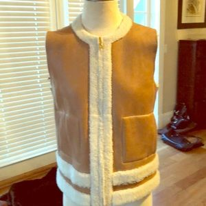 Tory Burch leather and shearling vest
